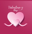 Valentines day abstract background heart and ribbo vector image vector image