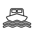 ship line icon boat sign in outline style vector image vector image