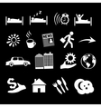 isolated concept of human life icons vector image vector image