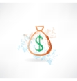 bag of money grunge icon vector image