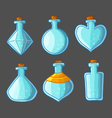Collection of empty bottles magic vector image