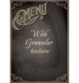 black chalkboard with a granular texture vector image vector image