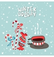 XMas card of a cup with hot vector image