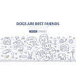 Dogs Care Doodle Concept vector image