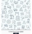 Construction wallpaper Black and white build vector image vector image