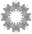 Amazing fly butterflies vector image