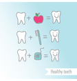 Happy teeth drawing vector image
