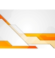 Orange grey abstract hi-tech motion background vector image