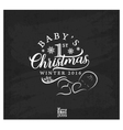 Baby First Christmas Design Element vector image