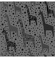 Funny giraffes pattern vector image