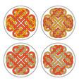 heart celtic cross ethnic ornament vector image