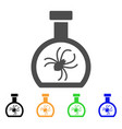 parasite container retort flat icon vector image