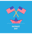 Two flags and boat Patriot day Flat vector image