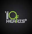 10 of hearts logo poker logotype vector image