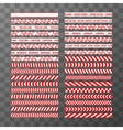 Big set of different seamless red and white vector image