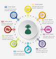 Infographic template with customer service icons vector image