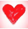 Watercolor red heart vector image vector image