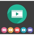 Film video cinema photo icon flat web sign symbol vector image