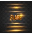 Sun Lens Flare Effect Transparent vector image