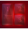 abstract background with transparent glass banners vector image