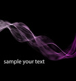 abstract dark purple waves line violet wave lilac vector image