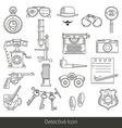 Detective icon vector image