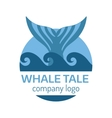 Whale tail label vector image