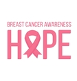 Breast Cancer Awareness card vector image