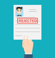 rejected paper vector image