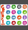 alternative energy icons set in grunge style vector image