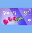sale summer sale get your discount horizontal vector image