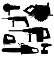 building tools electric black vector image vector image