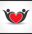 creative couple icon or happy valentine day design vector image vector image