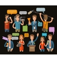 media television or journalism icons set vector image vector image