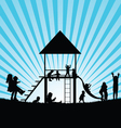 children on toboggan and gadgets for play vector image