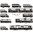 transportation silhouettes vector image