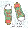 An of fashionable girl trainers vector image