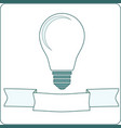 icon light bulb lamp vector image
