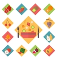 Icons fruit set vector image