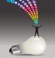 Man Light Bulb Burst vector image