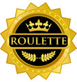 roulette gold icon vector image