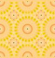 seamless pattern design mandala round elements vector image