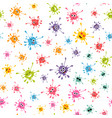 seamless pattern with colorful blot faces vector image