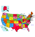 USA 50 States with State Names vector image