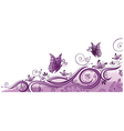 Purple border vector image vector image