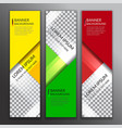 set of vertical abstract colorful display banner vector image