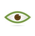 green eye icon vector image
