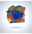 Grunge paint square vector image
