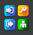 Login web icons collection vector image vector image