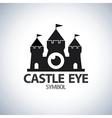 Castle eye symbol icon vector image vector image